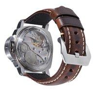 Smart Riemen OEM Custom Großhandel Männer Italienisch Vintage Echtes Leder Uhrenarmband