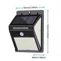 228 144 LED Solar Light Outdoor Solars Lamp with Motion Sensor Solar-Powered Sunlight Spotlights for Garden Decoration Waterproof Wall Lights