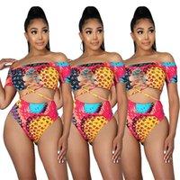 Women's Tracksuits Beach Summer Slash Neck Two 2 Piece Sets Active Tracksuit Sporty Outfits Female Suit Clothes