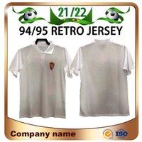 94/95 Edition Edition Real Zaragoza Soccer Jerseys 1994/1995 الكلاسيكية الرئيسية Poyet Pardeza Higuera Nayim كرة القدم قميص