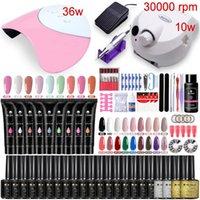 Gel de uñas Sr. Chem Manicure Set 120W / 54W Lámpara LED 30000RPM Máquina de perforación Herramientas UV Poly Poly Extension Nails Art Kit Uñas
