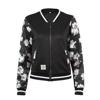 Women's Jackets Winter Fashion Flower Jacket Ladies Long-sleeved Casual Zipper Self-cultivation Loose Wild BF Wind Top Foreign Trade