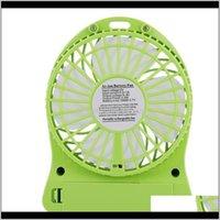 Elektrische Fans Leben Haushaltsgeräte Drop Lieferung 2021 33333 Mini Tragbare USB-Fan, Sommer-Lüfter für Büro, Auto, Zuhause, Reisen, Vac