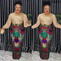 Ethnic Clothing Plus Size African Party Dresses For Women 2021 Dashiki Fashion Sequin Evening Gowns Elegant Kaftan Robe Femme Africa
