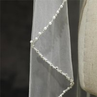 Bridal Veils One Layer Of Veil With Comb And Pearl Sequins Hand-stitched Lace Wedding Accessories