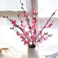 Decorative Flowers & Wreaths Artificial Plum Blossom Floral Fake Peach DIY Silk Wedding Branch Home Decor Bouquet Flower