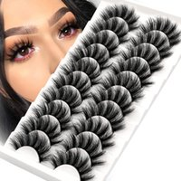False Eyelashes Lashes 5 10 Pairs 3D Faux Mink Fluffy Soft Wispy Volume Natural Long Eye Reusable Eyelashs Makeup