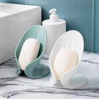 Soap Dishes Creative Leaf Box Bathroom Standing Holder Toilet Free Punch Quick Drain Shelf Sink Dishwashing Wipe Storage Rack