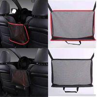 Car Organizer Large Capacity Net Pocket Handbag Holder Auto Armrest Box Back Storage Mesh Bags Universal Automobiles Accessories