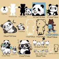 Wholesale Cute Panda Cartoon Iron On Transfer Vinyl Stickers Clothing Backpacks DIY Washable Heat Press Decals HTV Design T-Shirt Hoodie Cap Bags Patches Large Small
