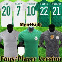 2019 Algeria Soccer Jersey Camiseta de fútbol para adultos 19 20 maillot Argelia visitante camiseta verde de fútbol manga corta 2019 MAHREZ Uniformes de fútbol