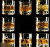 Wine Glasses 2 Pcs lot Glass Mug Crystal Beer Whiskey S Cup Vodka Drinking Bar Club Bottle 200902-10