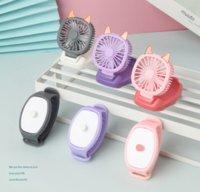 Mini Carry Wrist Вентилятор Часы Портативные Вращающиеся USB Зарядки Воздушные Охлаждающие Вентиляторы Съемные Студенты Игрушечные Часы
