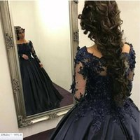 2021Vintage Black Lace Satin Ball Gown Gothic Wedding Dresses With Long Sleeves Corset Back Non White Bridal Gowns Colorful