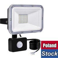 Pulseira de movimento PIR Luz de inundação ao ar livre do sensor, 30W LED luz de segurança, ip66 à prova d'água ao ar livre, branco 6500K iluminação de indução para o caminho do pátio
