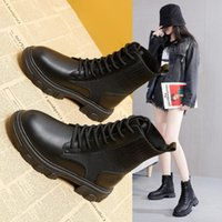 Boots British Style Women Ankle Fashion Platform Flat Warm Winter Shoes Woman Casual Short Sock Office Lady Motorcycle