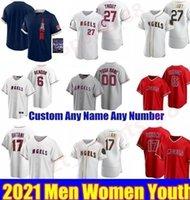 2021 Juego de All-Star Jerseys Baseball Jerseys Mike Trout Shohei Ohtani Anthony Rendon Reggie Jackson Jefy Marte Andrelton Simmons Zack Hombres Mujeres Jóvenes