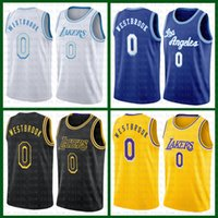 "Russell 0 Westbrook Basketball Jersey Los ""Angeles"" Lakers ""2021 Nouveau Lebron 23 6 James Anthony 3 Davis Earvin 32 Johnson Alex 4 Caruso Mens Kyle 0 Kuzma Ivoire"