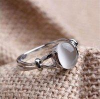 الأزياء والمجوهرات الفاخرة بارد الذهب الأبيض مطلي مونستون بيلا المرأة خاتم الزفاف هدية 1621 T2