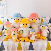 30/45/60/70cm Funny Duck Plush Toys Lovely Animal Duck Go Shool Stuffed Soft Baby Dolls Cartoon Birthday Gift