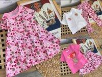 الفتيات اللباس الاطفال طفل فساتين الطفل الدب خطابات الصيف وتتسابق ملابس الأطفال الجميلة
