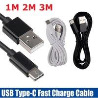 Typ C Kabel 10ft 6ft 3ft USB 2.0-Ladekabel Daten Sync Schneller Ladekabel für Samsung S20 Note10 S10 MOTO LG One Plus