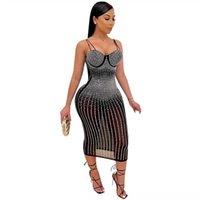Vestido de impresión bohemia Vestidos de Festa para mujer Tarde de manga larga de manga larga Vestido de mujer Impreso Moda Largo Veet Vestido Sexy Turtlenec