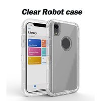 Transparent Heavy Duty Defender Cases Shock Absorption Crystal Clear Case For Iphone XS Max XR 8 Plus Samsung Note 9 S10 No Clip OPP Bag