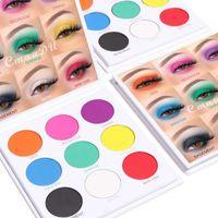 Eye Shadow 9 Colors Natural Matte Eyeshadow Palette White Purple Pigments Eyes Makeup Waterproof Long-lasting Cosmetics TSLM1