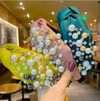 Velvet Hoop Hoop Woman Fashion Hair Bands Accesorios Pearl de alta calidad Dama anudada Multi Color Deedband Regalo 3 6nm K2B