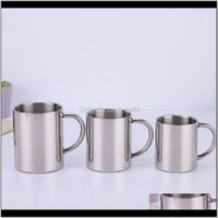 Kitchen, Dining Bar Home & Garden220 300 400 500Ml Creative Double Wall Water Coffee Mug Stainless Steel Tea Cup Beer Drinkware Outdoor Trave