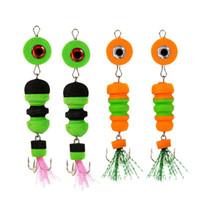 Fishing Hooks Durable Lure Delicate Design 2x Bait Jig Swivel Big Eye Swim Insect Minnow Float Wobbler