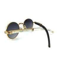 Black White Buffalo Horn Carter Oval Marca Designer Óculos de sol para homens Óptico Óptica Óculos