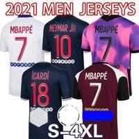 Mbappe icardi psg.Jerseys de futebol 20 21 Maillots de futebol camisas 2021 Kean Verratti Marquinhos Kimpembe Homens + Kit Kits uniformes Enfants Maillot Foot Quarto