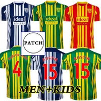 20 21 West Bromwich Albion Home Soccer Jersey 2021 بعيدا كرة القدم قميص كيت camiseta دي فوتبول بروم الرجال + أطفال روبسون كانو قمصان موحدة