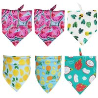 Pcs Summer Fruit Print Washable Dog Triangle Bibs Pet Kerchief Scarf For Dogs Apparel