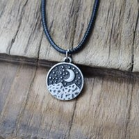 Pendant Necklaces Fashion Moon Mountain Necklace Camping Jewelry Adventurer Christmas Gift
