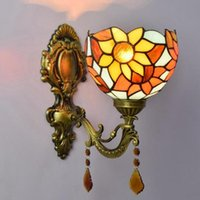 Wall Lamps Turkish Lamp Vintage Stained Glass Tiffany Light Corridor Living Room LED Nordic Style Decoration Creative