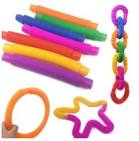 DHL Tube Sensory Fidget Twist Tubes Toy Stress Angst Relief Stretch Telescopic Bellows Extension Finger Tube Gift CJ12