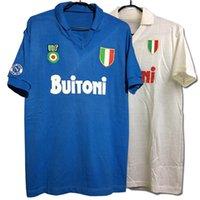 1987-88 Maradona classic Retro SSC Napoli Home Away High quality T-shirt Diego Armando Maradona Customize A Special Kind of Hero Q0517