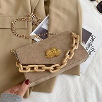 Evening Bags Luxury Frosted Faux Suede Flap For Women Chains Shoulder Handbag Stylish Female Crossbody Purse Designer Sac A Main 2021
