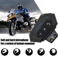 Motorradhelme Tragbares Helm-Headset komfortabeles drahtloses Bluetooth-Kopf-Telefon mit Innensprecher-Earphine für Motor