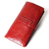 Wallets Women's Casual Long Genuine Leather Wallet High-End