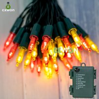 Point Bulb Strings light Battery Operated String Lights 2 Pack 50 LED Waterproof Christmas Lamp with 8 Modes for Outdoor Indoor Xmas Tree decor