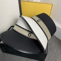 2021 Luxury Designer Womens Famous Caps Casquette Summer Bucket Hat Wide Brim Hat Colorant Match Luxurys Designers D216222F