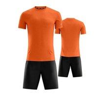 16568978shion 11 Conjuntos de Jerseys em branco da equipe, treinamento de futebol usa manga curta correndo com shorts 1217345