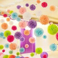 Декоративные цветы венки 30 см (12 дюймов) бумаги Помпома Цветок ткани Цветочные шарики для дома Свадебные вечеринки Украшения автомобилей Main Brafts EWD7942