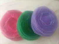100 stücke 26cm 9 Farben Durchmesser Organza Runde Ebene Schmuck Taschen Hochzeit Party Candy Geschenk Taschen