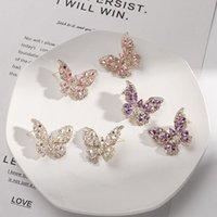 Kimter 925 Sterling Silver Animal Stud Dangle Earrings for Women Bling Cubic Zirconia Earring Fashion Bride Jewelry A30Z