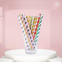 Disposable Drinking Straws Paper Straw Pink Straws For Party Supplies Birthday Wedding Decorations And Celebrations OWE9469